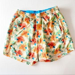 Birddogs Hawaiian Print Boom Gym Shorts sz M